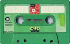 BASF LH C90 Green Casette Tapes, Magnetic Tape, Cd Cases, Music Images, Band Photos, Retro Futurism, Audio Equipment, Mixtape, Nostalgia