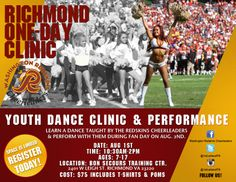 SAVE THE DATE!!  RVA Cheerleaders/Dance Teams!!  The Washington Redskins Cheerleaders are hosting a CHEER CAMP!!  Island Glow Mobile Spray Tanning will be sponsoring this camp and all attendees will receive FREE airbrush coupons and experience a beautiful custom-blend GLOW just like the 1st Ladies will receive on GAME DAY!!!  All RVA clients can book a studio or mobile tan with one of our GLOW GIRLS!! All DC/Maryland clients can book a studio or mobile tan with our DC GLOW GIRL!!!