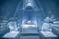 9 Epic Ice Palaces Snow Hotels and Igloos For Your Winter Bucket List - Dekor Ice Hotel Sweden, Ice Houses, Sweden Travel, Ice Sculptures, Snow And Ice, Chapelle, New Artists, Natural, Around The Worlds