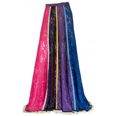 """SKIRT MAXI, IN MULTICOLOR LACE PLEATS & COTTON EMBROIDERY  """"alexSANDra on…"""