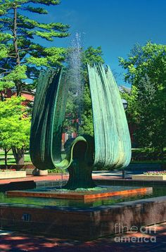 Marshall University Memorial Fountain, remembering today, November 14, 1970, 75 Marshall University football players, coaches, staff, physicians and supporters died in a plane crash that changed us forever! We are....Marshall! Never Forget!