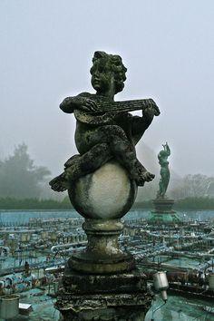 Angel statue, Nara Dreamland, Nara, Japan. Opened 1961, closed 2006. Abandoned amusement park.