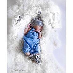 Gray textured newborn top knot beanie