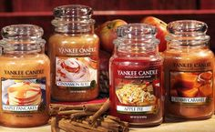 Yankee Candle - I love all the food smelling candles. They fill your home with a warm feeling! Best Smelling Candles, Scented Candles, Yankee Candles, Candle Jars, Fall Scents, Fall Candles, Perfume, Candels, Made In America