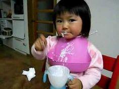 あわあわ、早食い whipped milk, eating quickly - YouTube Home Decor Kitchen, Kids Christmas, Braided Hairstyles, Braids, Videos, Face, Pretty, Youtube, Gardens