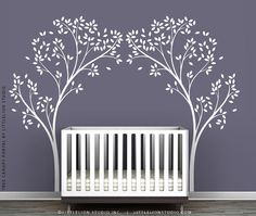 White Tree Canopy Portal Wall Decal By By TheWhiteTreeStore