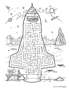 Rocket Ship Maze: Make your way up into the driver's seat of the s. - Rocket Ship Maze: Make your way up into the driver's seat of the space craft. Space Party, Space Theme, Space Activities, Activities For Kids, Maze Games For Kids, Rockets For Kids, Space Games, Science Activities, Mazes For Kids Printable