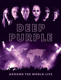 Deep Purple 'Around The World Live' Concert Poster. Rock And Roll Bands, Rock Bands, Rock N Roll, Rock Posters, Concert Posters, 70s Music, Rock Music, Deep Purple, Hard Rock
