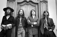 The last Beatles photoshoot: In August of 1969, Paul McCartney, Ringo Starr and George Harrison joined John Lennon at his newly purchased 72-acre estate with Yoko Ono in Sunninghill, Berkshire. They were photographed by Ethan Russell and Monte Fresco in the run up to the release of the last two albums the group would ever release, Abbey Road (September 1969) and Let it Be (May 1970).