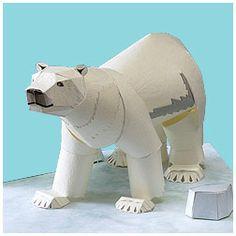 Polar Bear - Entertainment   http://www.yamaha-motor.co.jp/global/entertainment/papercraft/animal-global/bear/