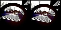 This image is a crossview stereogram. Sit back, keep your head level, and slowly cross your eyes. The two images above will turn to four, then slowly overlap the two images in the center. For more information visit this link to learn how to see 3D ph  device