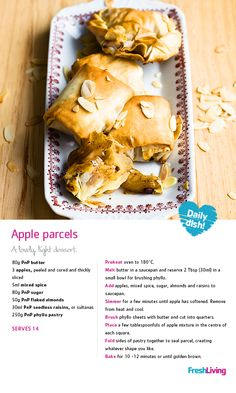 BUDGET BAKE: An apple a day keeps the debt collector away... Save with this yummy sweet treat on #MeatfreeMonday!  #dailydish #picknpay #freshliving