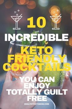Are you looking for some keto alcoholic recipes? Try these delicious low carb keto cocktail recipes. Keto alcohol drinks to let you enjoy a bit of booze without worrying about your diet. These keto cocktails include La Croix, vodka, rum, tequila and are a Tequila Drinks, Cocktail Drinks, Cocktail Recipes, Drink Recipes, Alcoholic Drinks Diet, Vodka Cocktails, Low Carb Cocktails, Rum, Keto On A Budget