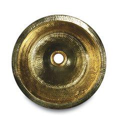 """RLB - 16"""" Diameter Hand Hammered Brass Prep Sink"""