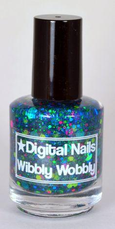 Wibbly Wobbly: A timey wimey Doctor Who inspired glitter nail polish by Digital Nails. $10.00, via Etsy.