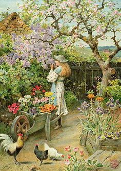 'Spring Blossoms' - William Stephen Coleman (1829 – 1904, English)
