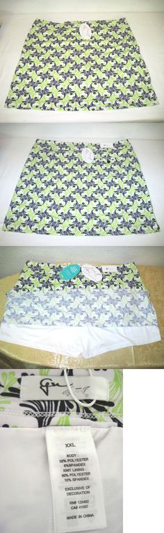Skirts Skorts and Dresses 179003: Greg Norman Women S Key Largo Print Knit Pull-On Golf Skort, Size Xxl New W Tags -> BUY IT NOW ONLY: $39.99 on eBay!