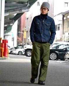 Gジャンに軍パン、ブーツの組み合わせは、シンプルだけどやっぱりカッコいい。 #ダブルツリー #Gジャン #アメリカ軍 #軍パン #blundstone #ブーツ #zabou #ザボウ #大阪 #ファッション