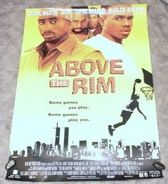 Original Above The Rim Movie Poster 27 x 40 1994 Tupac Shakur Bernie Mac Wayans