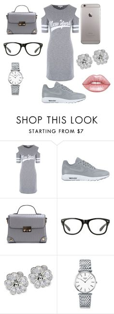 """Gray day lml you know what I mean Mary"" by jadamckenzie20 ❤ liked on Polyvore featuring NIKE, Longines and Lime Crime"