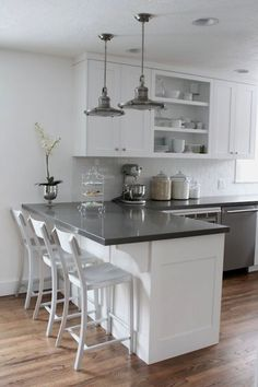 Supreme Kitchen Remodeling Choosing Your New Kitchen Countertops Ideas. Mind Blowing Kitchen Remodeling Choosing Your New Kitchen Countertops Ideas. Kitchen Ikea, Kitchen Cabinets Decor, Cabinet Decor, Kitchen Cabinet Design, Kitchen Redo, New Kitchen, Cabinet Makeover, Cabinet Ideas, Kitchen White