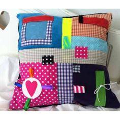 Sensory cushion – Alzheimer's Society Shop Sensory Blanket, Baby Sensory, Sensory Bins, Sensory Boards, Sensory Table, Dementia Activities, Sensory Activities, Elderly Activities, Manualidades
