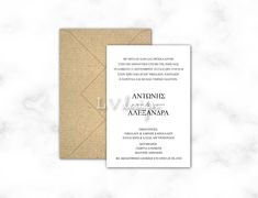 Classic Wedding Invitations, Place Cards, Place Card Holders