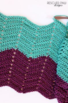 Classic Ripple Crochet Tutorial & Pattern via Rescued Paw Designs. Click to Read or Pin and Save for Later!