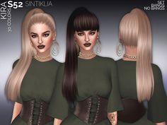 The Sims Resource: Sintiklia - Hair set s52 Kira • Sims 4 Downloads