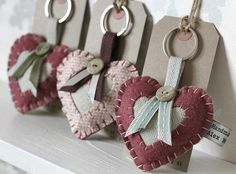 Heart key chains or charms