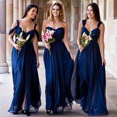 Aaliyah Silk Bridesmaid Dress In Navy