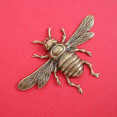 1-Large Bee Bug Insect Ox  Brass Stamping Ornament Pendant Jewelry Findings. by anchar on Etsy https://www.etsy.com/listing/202399225/1-large-bee-bug-insect-ox-brass-stamping