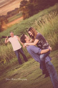 The BEST father/daughter photo! Her poor boyfriend.. =)