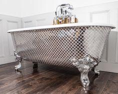 New!!! Chadder Blenheim Bath with genuine Polished Metal Mosaic exterior. This…