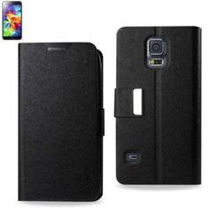 Reiko Magnetic Closure Fitting Case Samsung Galaxy S5 Black