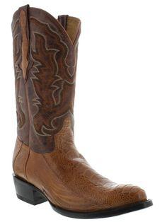 Men's genuine exotic skin ostrich leg round cowboy boots western rodeo biker #CowboyProfessionalBootCompany #CowboyWestern