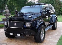 The Knight XV - dubbed the world's most luxurious armoured vehicle - is the new mode of transport for people wanting to combine security and comfort.  At 20ft in length, the imposing car stands at more than three feet longer than a Hummer and is a whole foot wider.  Bulletproof body and glass.