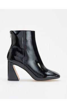 Botine cu toc decorativ, Încălţăminte, negru, RESERVED Ankle Boots, Booty, Adidas, Heels, Fashion, Ankle Booties, Heel, Moda, Swag