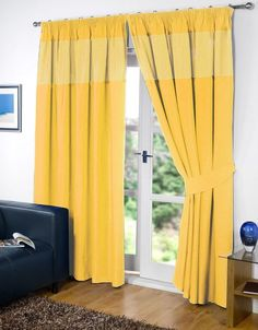 Yellow Pair of Kids Gingham 46'' x 54'' Pencil Pleat Thermal Blackout Curtains | eBay