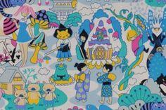 CAC0096- 100% Cotton Fabric: All-Over Hawaiian Print Fabric