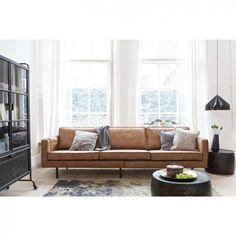 Wohnzimmer mit Couch aus Recyceltem Leder Braun #wohnzimmer #couch ...