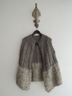 Fabulous vest and love the different textures plus the wide ribbing on the top