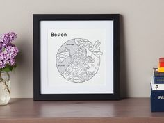These letterpress maps of popular structures and cities, discovered by The Grommet, add a sense of beauty and minimalism to any space.