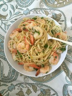15 Minute Shrimp Pasta super tasty, made it with Moscato (Sunday and only white wine on hand) and turned out great!