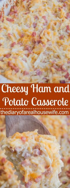 Cheesy Ham and Potato Casserole. I love this recipe. So simple and so yummy. Also PERFECT for leftovers!