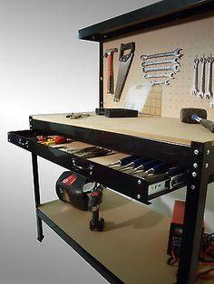 80 wide and safe garage organization ideas 31 Diy Workshop, Garage Workshop, Diy Garage, Garage Ideas, Buy Tools, Steel Garage, Cool Garages, Laundry Design, Garage Organization
