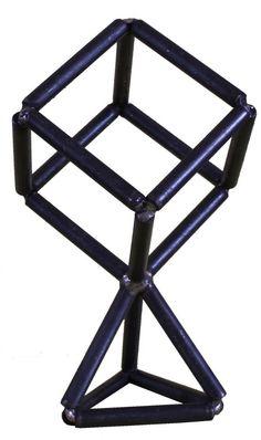 #Metal #sculpture by #sculptor Petr Pergler titled: 'Geometric (fabricated Rectilinear abstract Angular Rectangular statues)'. #PetrPergler