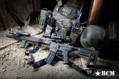 BCM rifle with Gunfighter stock