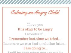 calm an Angry Child