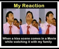 My reaction.. Yep only with family